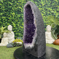 """CELESTIAL SOURCE"" Tall Amethyst Geode Cathedral 20.00 Brazil High Quality NS-608"