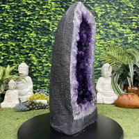 """SPACE SCEPTER"" Tall Amethyst Geode 21.00 High Quality Brazil Cathedral NS-614"