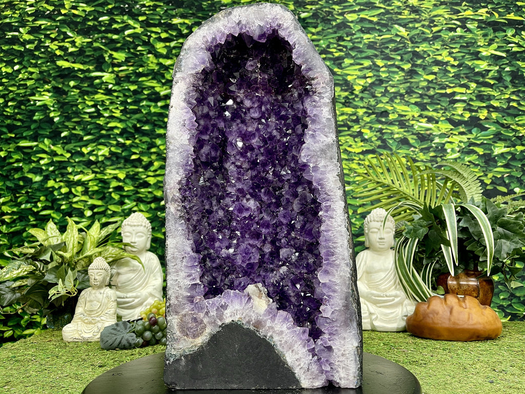 """PURPLE VICTORY"" Tall Amethyst Geode 21.00 High Quality Brazil Cathedral NS-616"