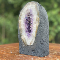 "Amethyst Geode ""LIPS OF MOTHER NATURE"" 7.50 Rainbow Prism Crystals NS-13"
