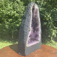 "Amethyst Geode ""FINDERS KEEPERS"" 13.00 Cathedral w Calcite NS-27"
