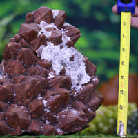 Super Seven Crystal Cluster w Calcite Striations Rare Mineral High Quality II-14s