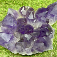 Amethyst Geode Heart Rare Mineral w Stand 9.75 Cluster BB-16s