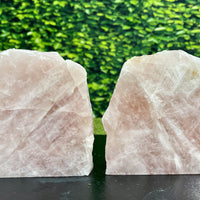 """CARESSING COTTON CANDY"" Rose Quartz Pair 6.00 Self Standing Crystals High Quality NS-669"