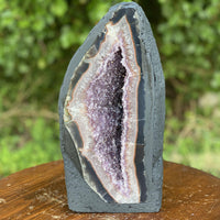 "Amethyst Geode ""MOON BLADE"" 12.00 High Quality Cathedral Crystal NS-52"