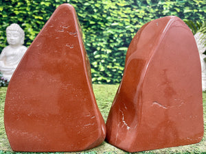 """GET THAT BLOOD PUMPING!"" High Quality Red Jasper Specimen Pair 9.75 Rare Mineral NS-688"