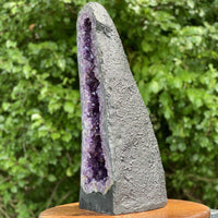 "HUGE DEEP Amethyst Geode ""MIRACULOUS FIND"" 23.00 Cathedral DARK PURPLE Crystal NS-59"