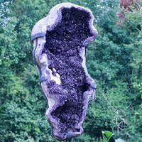 """BLOW YOUR MIND"" Huge Amethyst Geode Uruguay 74.00 High Quality Crystal Custom Stand PK-1"