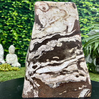 """RAMBUNCTIOUS ROMANCE"" Zebra Jasper High Quality 10.00 Self Standing Gemstone NS-730"