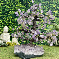 """SPRUCE OF SUPERIOR SPIRITUALITY"" Huge Amethyst Geode Zen Tree 17.00 Very High Quality T-70"