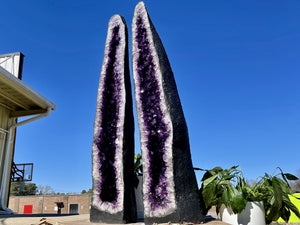 Huge Amethyst Geode 23.50 Custom Stand w Stand Crystal High Quality CC-110s