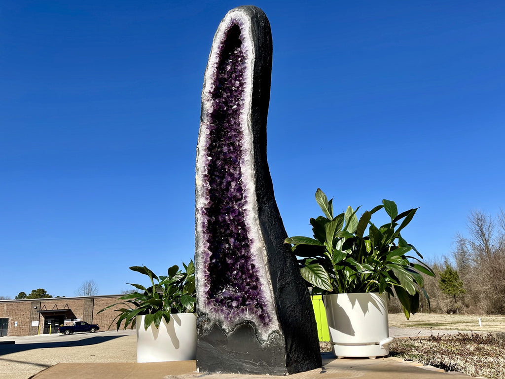 """BEACON OF BRILLIANCE"" Amethyst Geode Cathedral 53.00 High Quality Brazil XS-3"