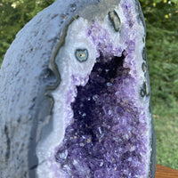 "Amethyst Geode ""FLOWERY BOUQUET"" 10.00 High Quality Cathedral Crystal Cluster NS-35"