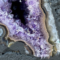 "Amethyst Geode ""GALAXY STARS"" 7.00 High Quality Cathedral Rainbow Prisms NS-54"