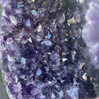"Amethyst Geode ""MIRACULOUS HEAVENLY HEALING"" 9.00 High Quality Cathedral Agate Rim NS-96"