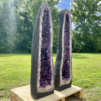 Amethyst Geode 10.75 High Quality Crystal Rosettas Luster Uruguay BB-77s