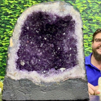 """PURPLE RUSH"" Deep Amethyst Geode High Quality 12.00 Brazil Cathedral NS-587"
