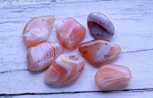 Apricot Agate Superb Quality Healing Gemstone Tumbled Crystal-Cosmic Cuts