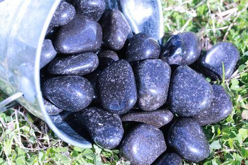 Black Jasper Tumbled Stone-Cosmic Cuts