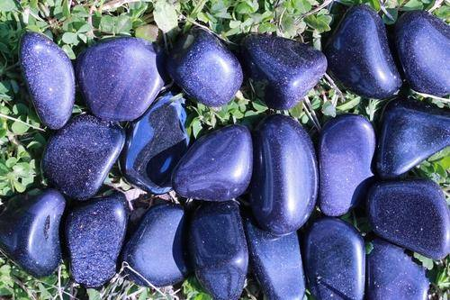 Blue Goldstone Tumbled Stone-Cosmic Cuts