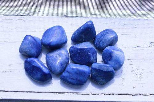 Blue Quartz Tumbled Stone-Cosmic Cuts