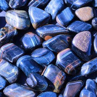 Blue Tiger's Eye Tumbled Stone-Cosmic Cuts
