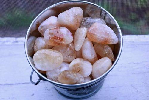 Heated Citrine Tumbled Stone-Cosmic Cuts