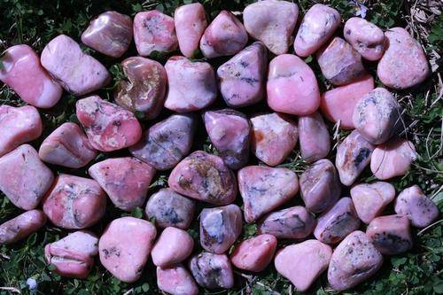 Pink Rhodonite Tumbled Stone-Cosmic Cuts