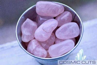 Rose Quartz Tumbled Stone-Cosmic Cuts