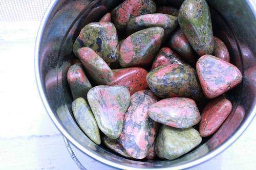 Unakite Jasper Healing Crystal Tumbled Gemstone Superb Quality-Cosmic Cuts
