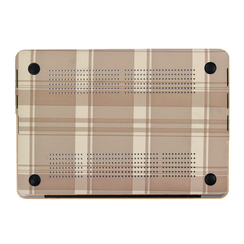 Cream Tartan MacBook Case