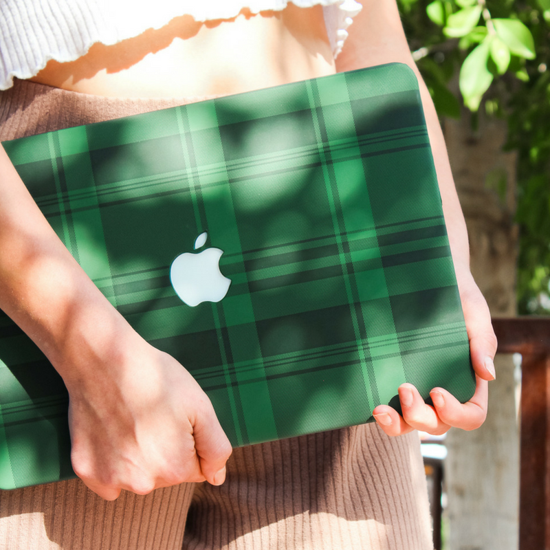 Emerald Tartan MacBook Case