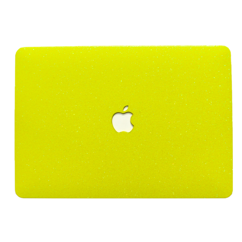 Neon Yellow Glitter MacBook Case