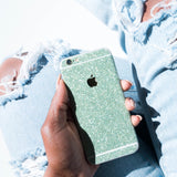 Green Glitter iPhone Skin