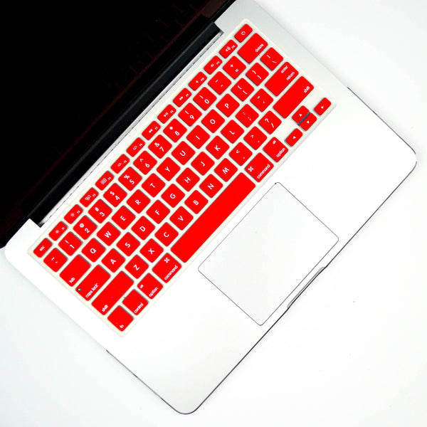 Silicone Keyboard Cover- Red - Embrishop  - 1
