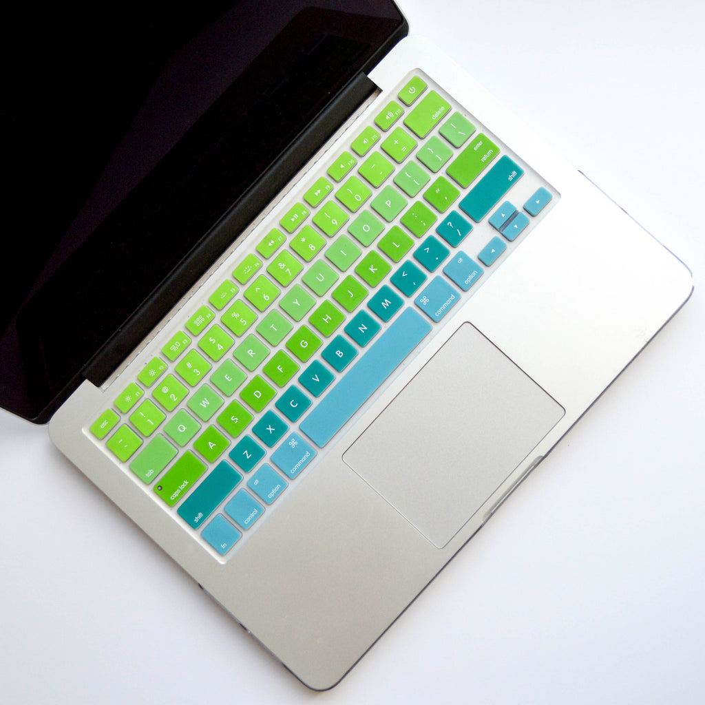 Ombré Keyboard Cover- Blue/ Green - Embrishop  - 1