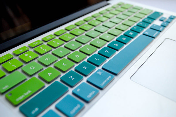 Blue and Green Ombré Keyboard Cover | Embrishop.com
