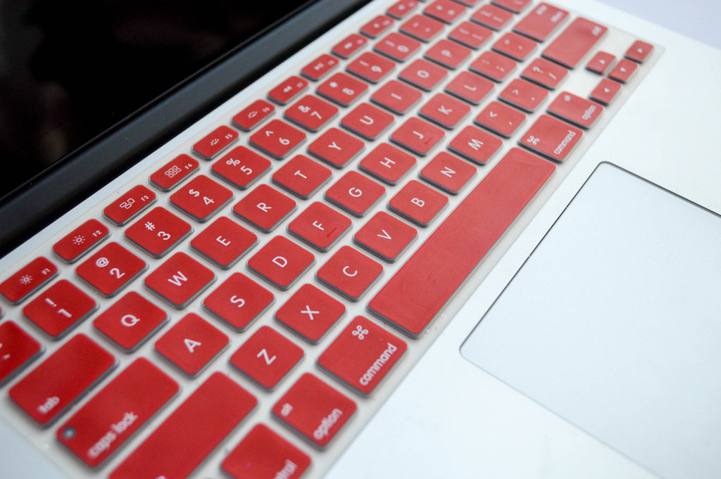 Silicone Keyboard Cover- Red - Embrishop  - 3