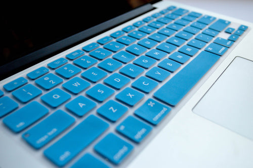 Silicone Keyboard Cover- Light Blue - Embrishop  - 2
