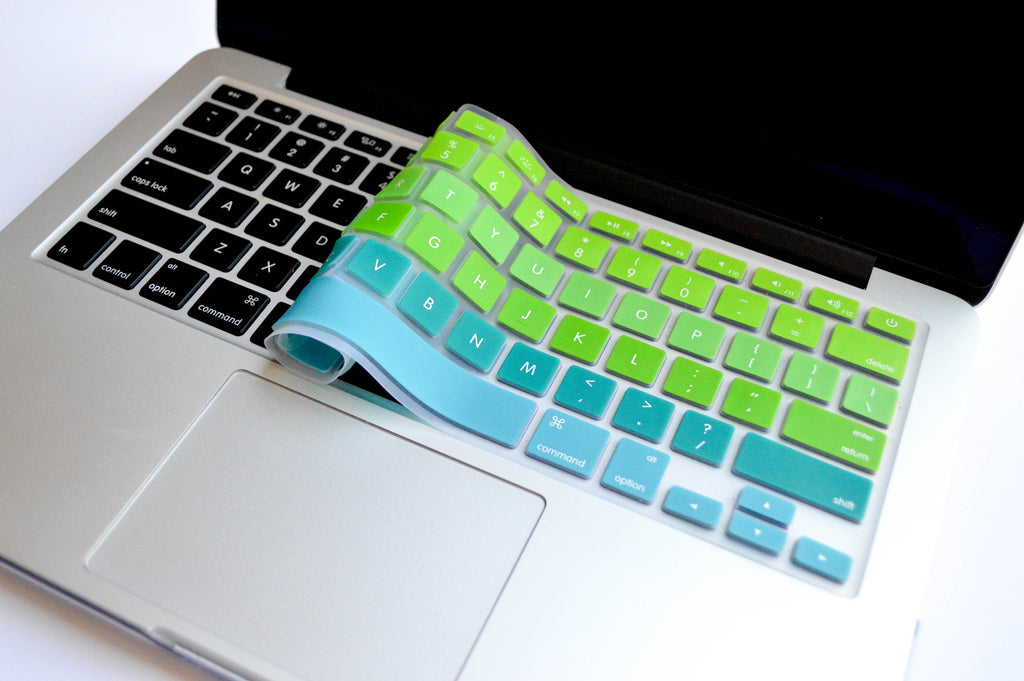 Ombré Keyboard Cover- Blue/ Green - Embrishop  - 3