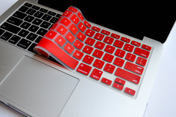 Silicone Keyboard Cover- Red - Embrishop  - 2