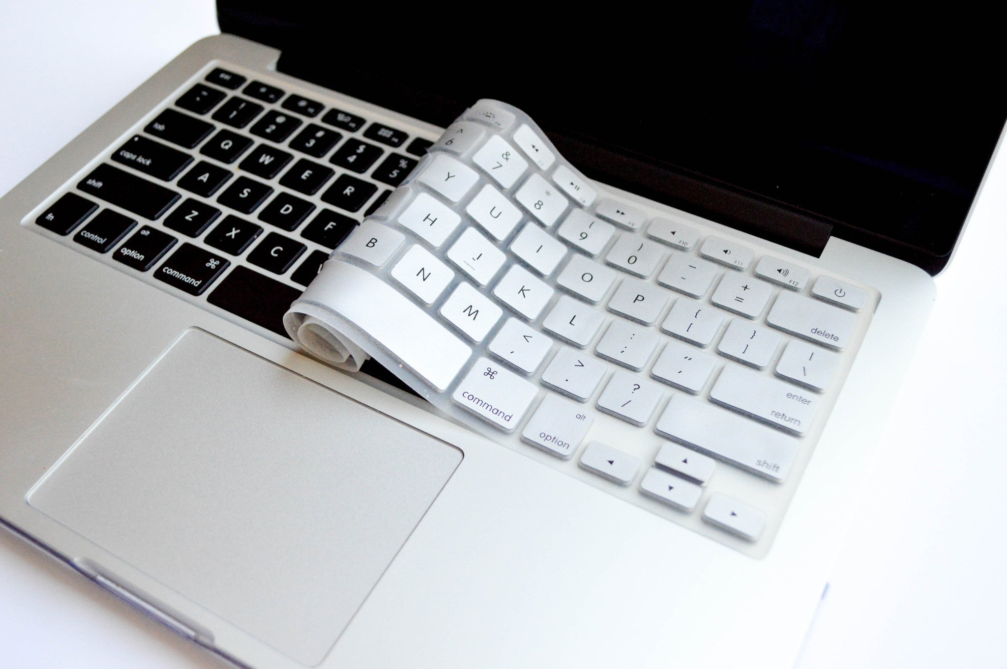 Silicone Keyboard Cover- Silver - Embrishop  - 3