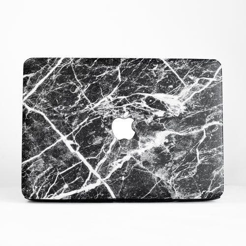 Black Marble MacBook Case