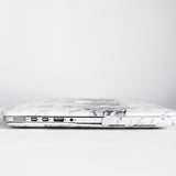 White Marble MacBook Case