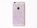 Glitter iPhone Wrap- Silver - Embrishop  - 1