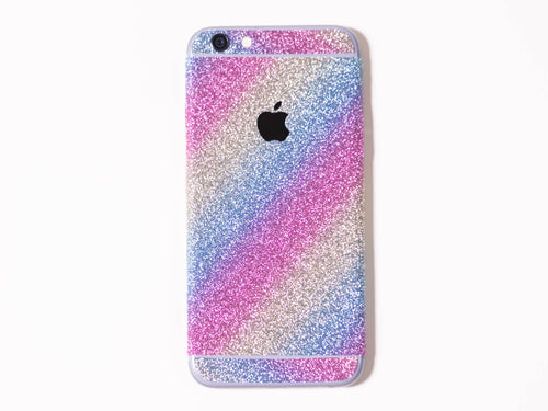 Glitter iPhone Wrap- Rainbow - Embrishop  - 1