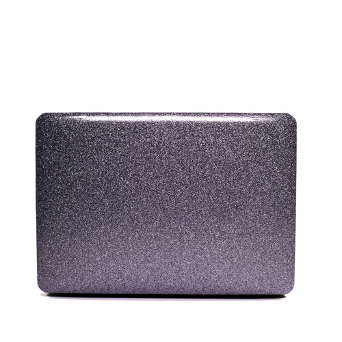 Space Gray Glitter Macbook Case No Cut Out
