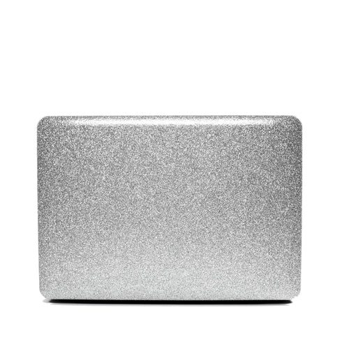 Silver Glitter Macbook Case No Cut Out