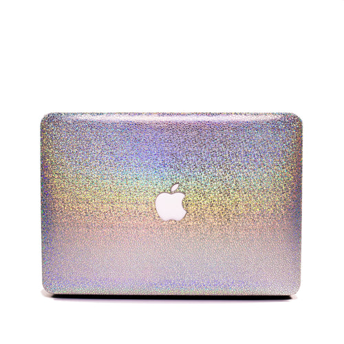Front view of iridescent Macbook case from Embrishop.com