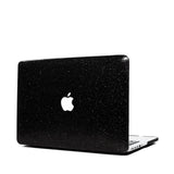 Black Glitter Macbook Case from Embrishop.com- side view